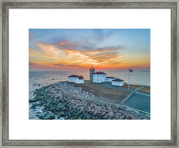 Orange Dreamsicle At Watch Hill Framed Print