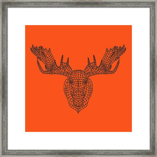 Orange Moose Framed Print