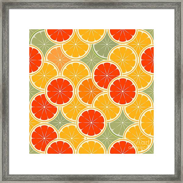 Orange Paradise -seamless Framed Print