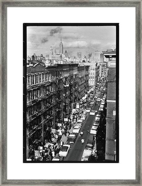 Orchard Street, 1963 Framed Print
