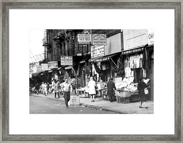 Orchard Street Market On The Lower East Framed Print