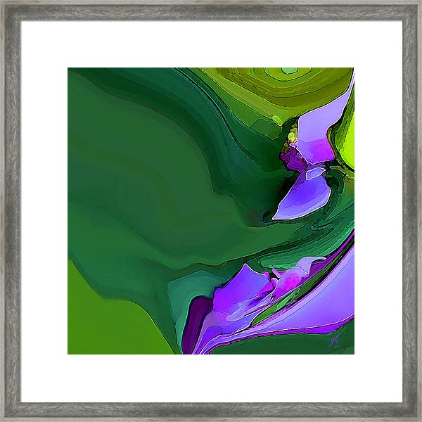 Orchids And Emeralds Framed Print