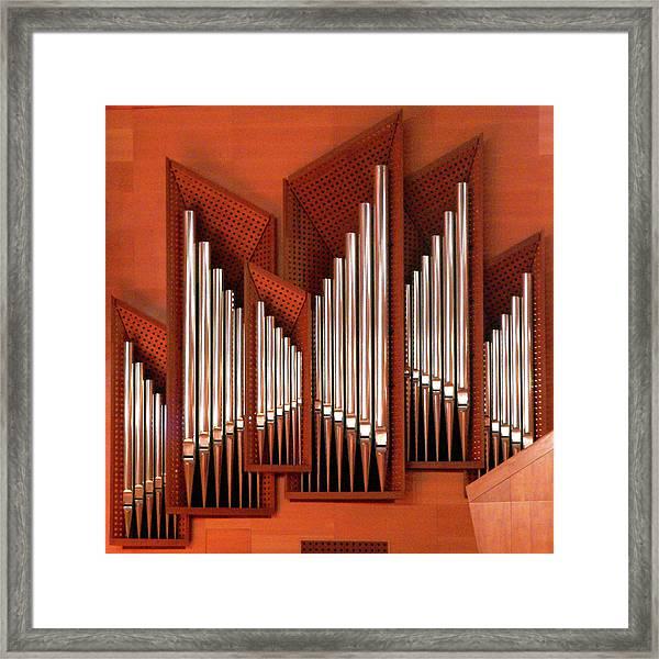 Organ Of Bilbao Jauregia Euskalduna Framed Print by Juanluisgx