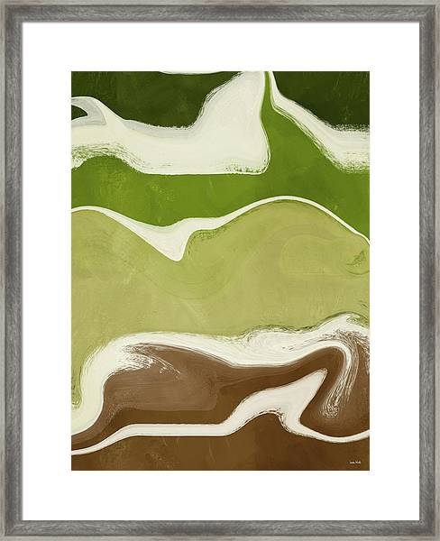 Organic Wave 1- Art By Linda Woods Framed Print