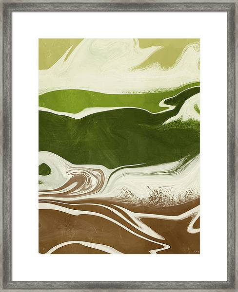 Organic Wave 2- Art By Linda Woods Framed Print