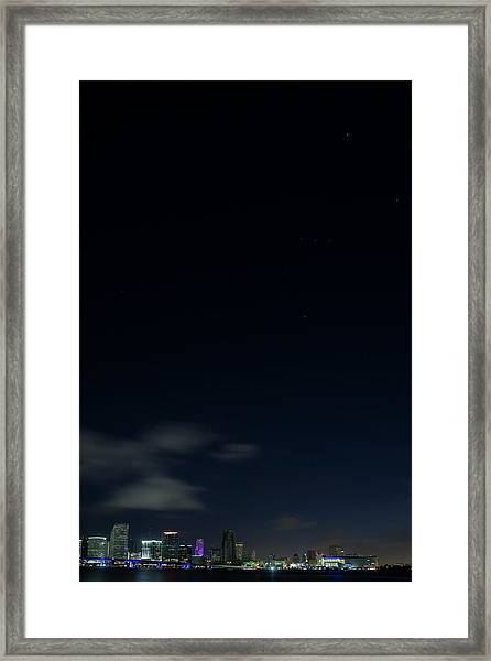 Orion Over Miami Xl Framed Print