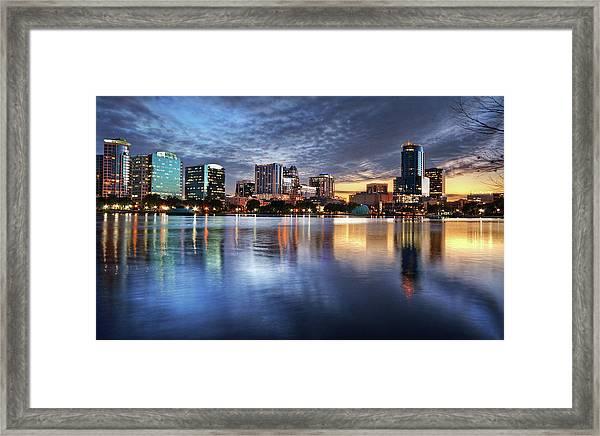 Orlando Florida Skyline Framed Print