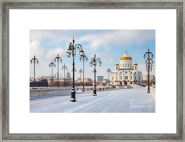 Orthodox Church Of Christ The Savior In Framed Print
