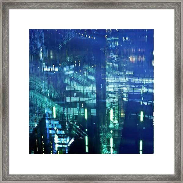 Osaka Station At Night Framed Print