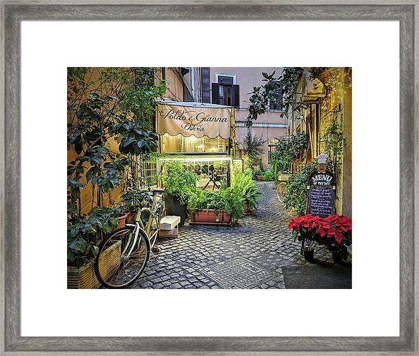 Osteria Roma - Jo Ann Tomaselli Framed Print