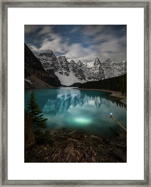 Otherworldly / Moraine Lake, Alberta, Canada Framed Print