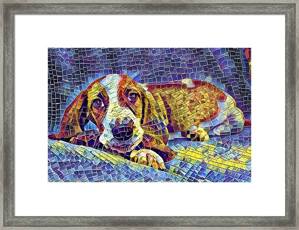 Otis The Potus Basset Hound Dog Art  Framed Print