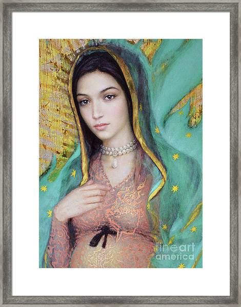 Our Lady Of Guadalupe, 1/2 Framed Print