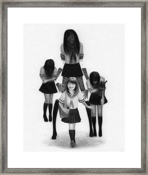 Our Last School Days - Artwork Framed Print