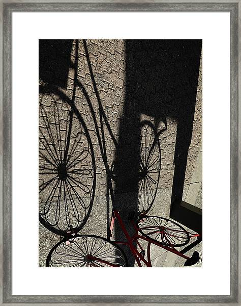 Our Time In Shadows Framed Print