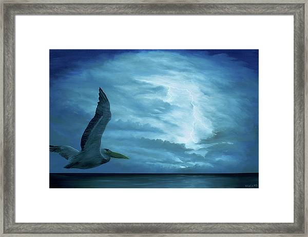 Framed Print featuring the painting Out Of The Blue by Kevin Daly