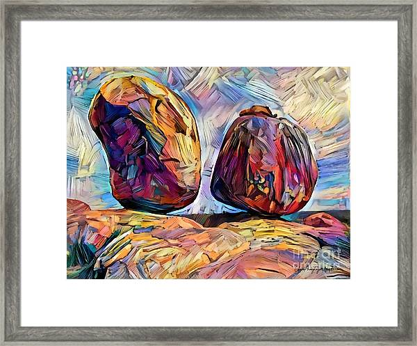 Outback Devils Marbles Framed Print