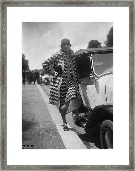 Outfit By Paquin Framed Print by Seeberger Freres