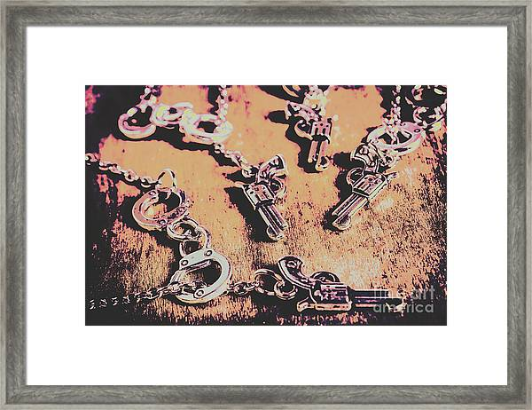 Outlaw Frontiers Framed Print