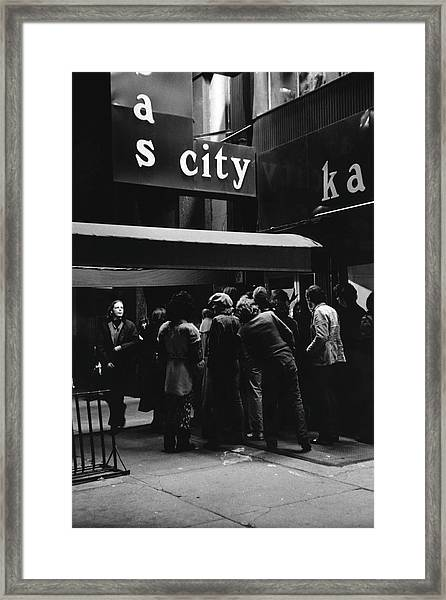 Outside Maxs Kansas City Framed Print