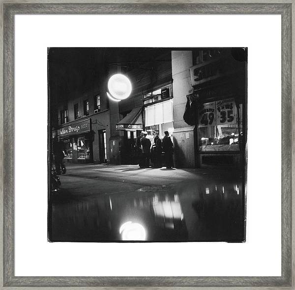 Outside The Cedar Street Tavern Framed Print