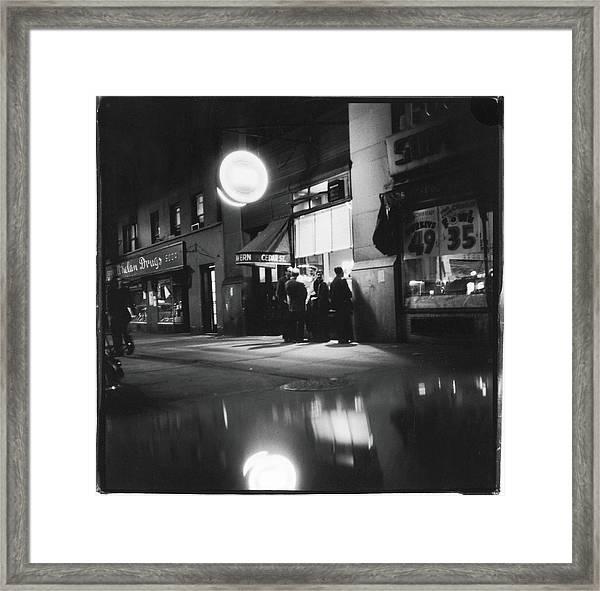 Outside The Cedar Street Tavern Framed Print