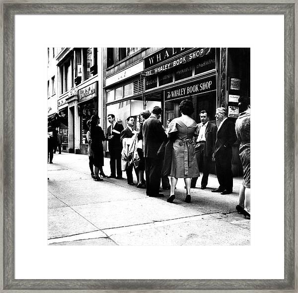 Outside The Janis Gallery Framed Print