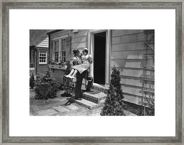 Over The Threshold Framed Print by James W. Welgos