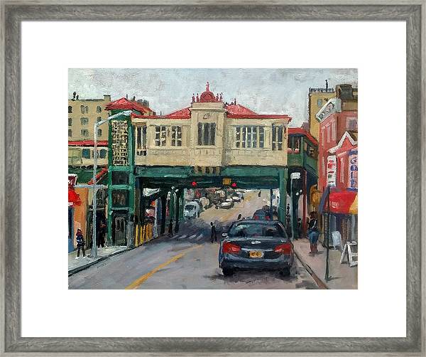 Overcast 231 Street Bronx Nyc Framed Print