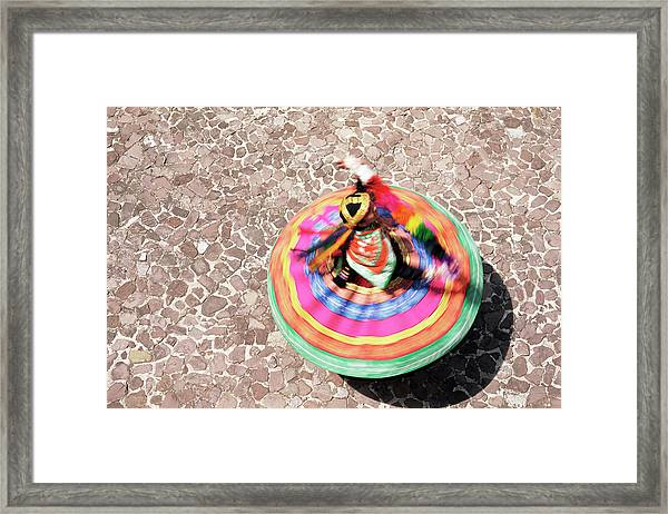 Overhead View Of A Mestiza Cuzquena Framed Print by Gavin Hellier / Robertharding
