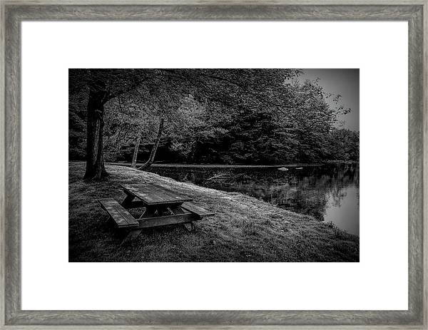 Overlooking The Sugar River Framed Print