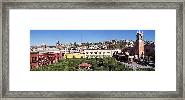 Overview Of Pruned Shrubbery, The Framed Print