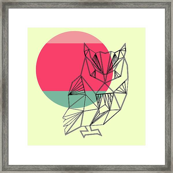 Owl And Sunset Framed Print