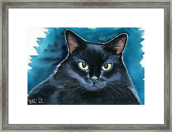 Ozzy Black Cat Painting Framed Print
