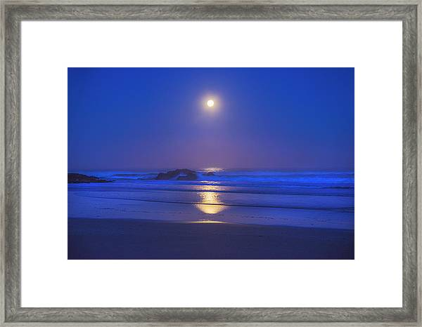 Pacific Moon Framed Print
