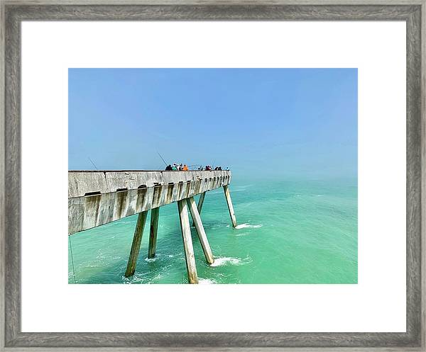 Pacifica Pier 1 Framed Print