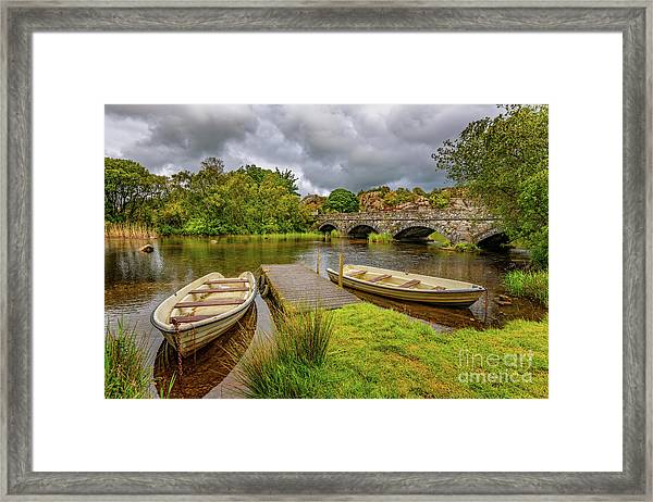 Padarn Lake Bridge Llanberis Framed Print