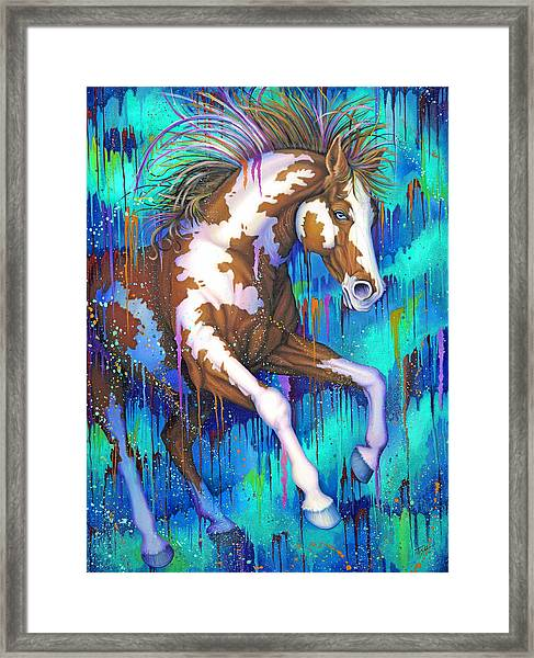 Paint Running Wild Framed Print