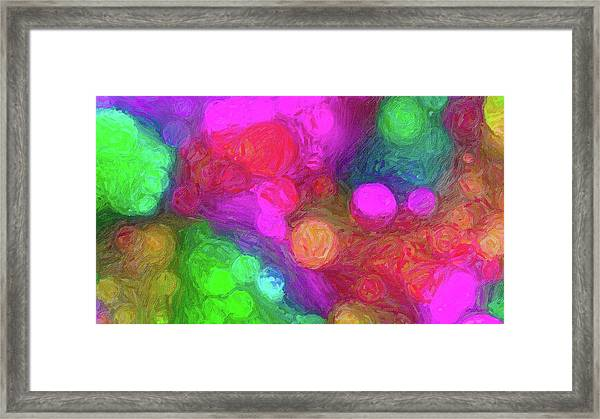Painted Bokeh Impasto Pinkish Purple Framed Print