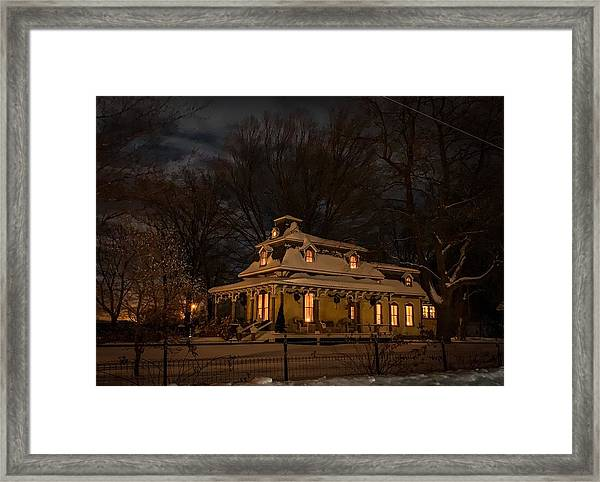 Painted Lady In Winter Framed Print