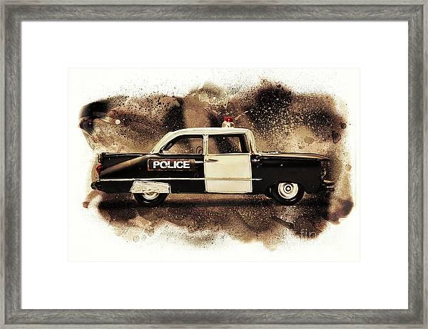 Painted Patrol Framed Print