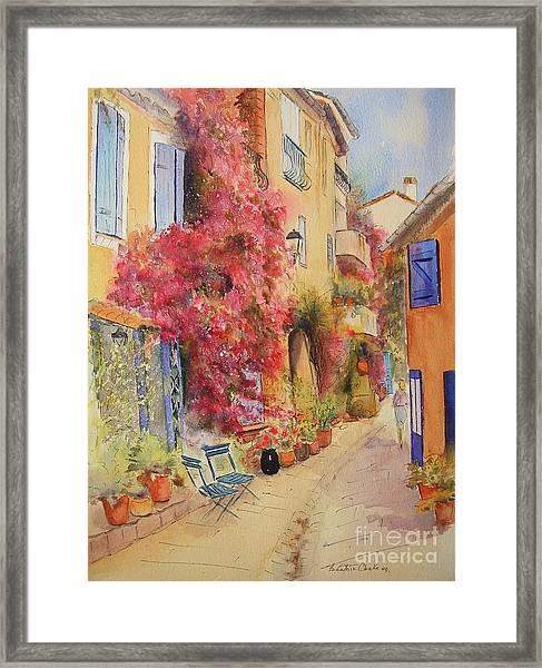 Painting Of Grimauld Village France Framed Print