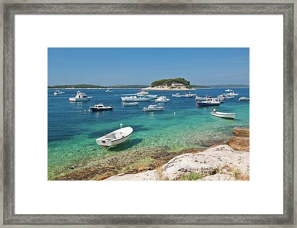 Pakleni Islands From Hvar Town Framed Print