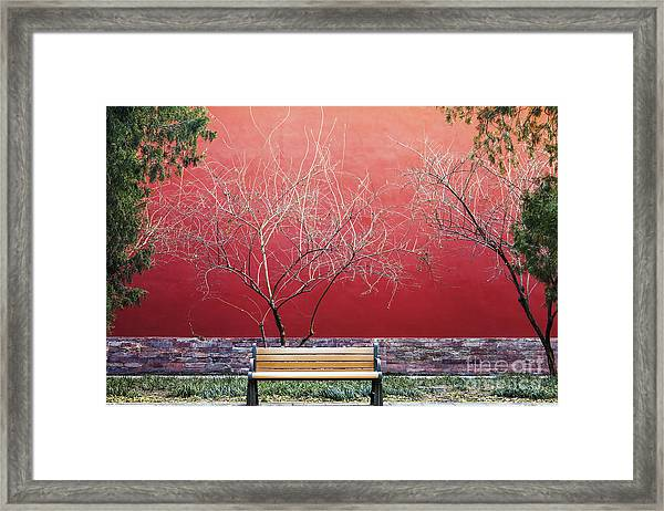 Palace Walls,the Forbidden City In Framed Print