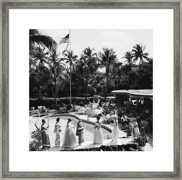 Palm Beach Fashion Show Framed Print