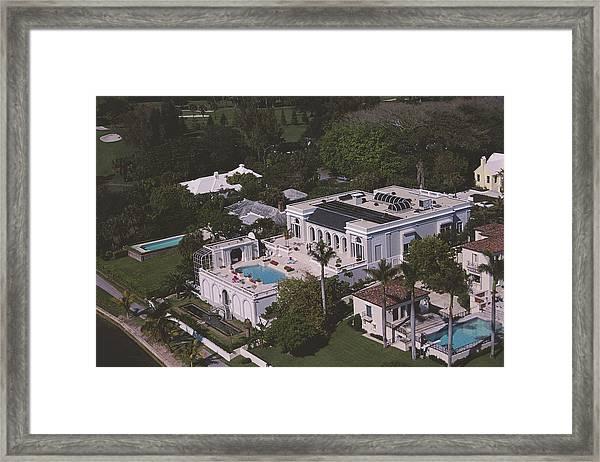 Palm Beach Palace Framed Print