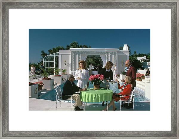 Palm Beach Pool Framed Print