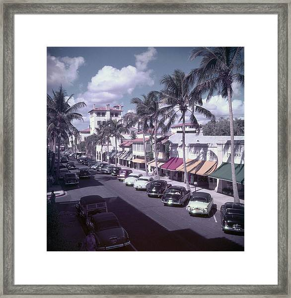 Palm Beach Street Framed Print