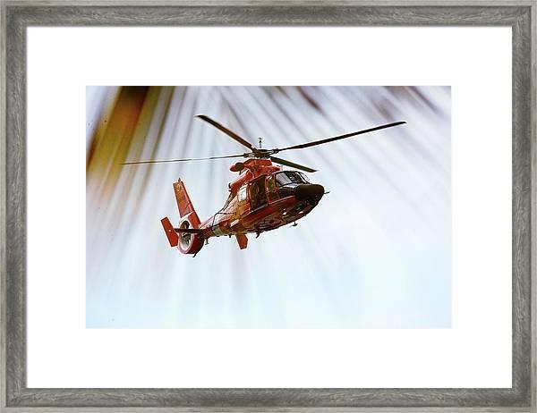 Palm Chopper Framed Print