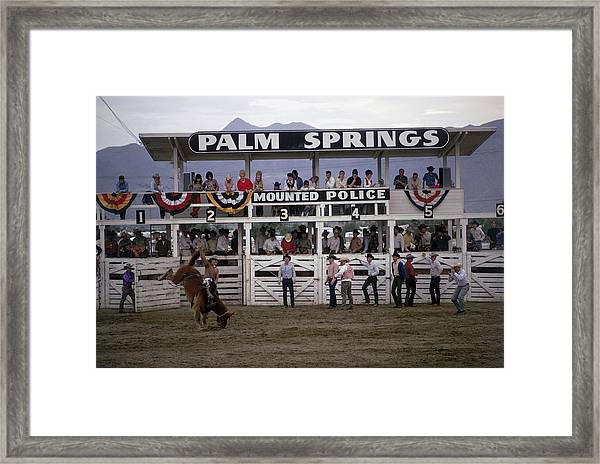 Palm Springs Rodeo Framed Print